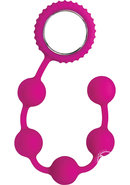 Sinful Anal Beads Silicone Pink 12 Inch