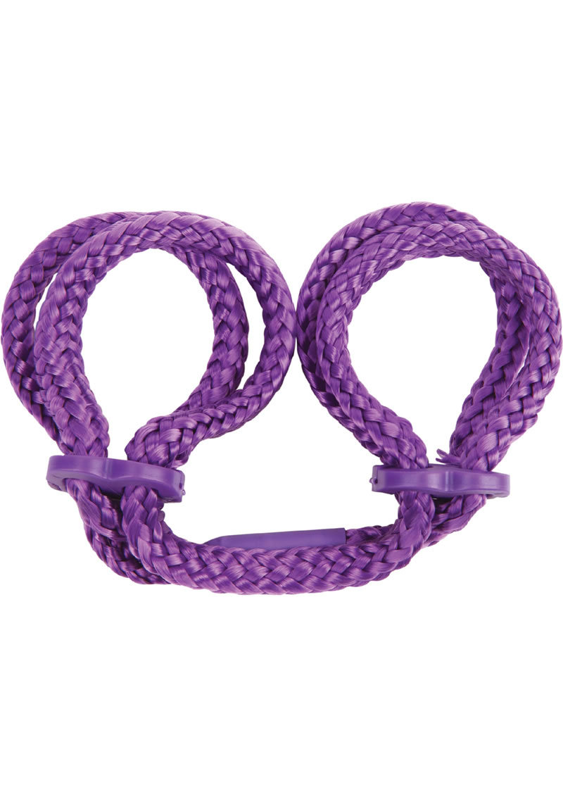 Japanese Silk Love Rope Wrist Cuffs Purple
