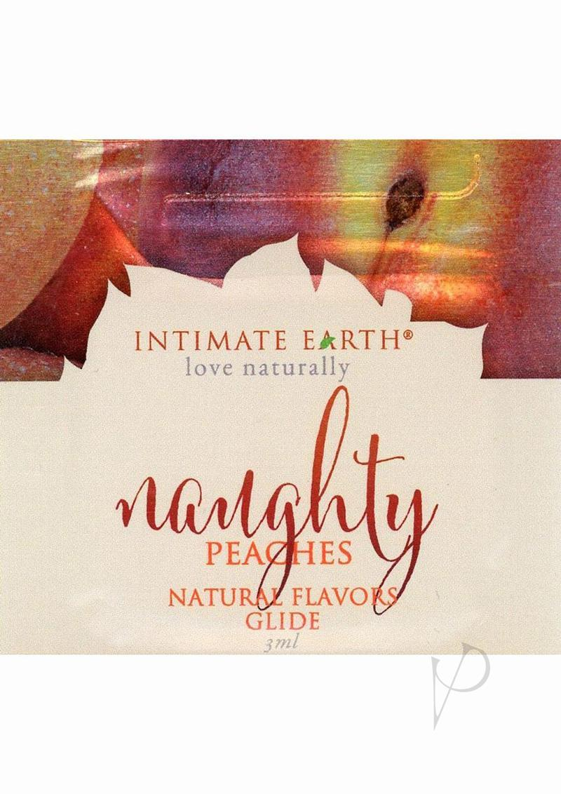 Intimate Earth Natural Flavors Glide Naughty Nectarines 3 Milliliter Foil Pack